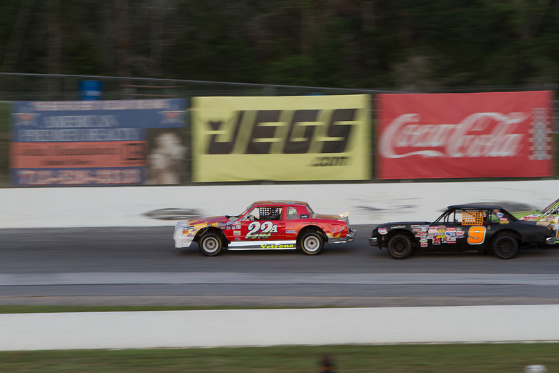 Houston Motorsports Park<br /> July 21, 2012<br /> Class: NASCAR Stock Cars<br /> Driver: Mike Mogensen (22), Scotty Barber (9)