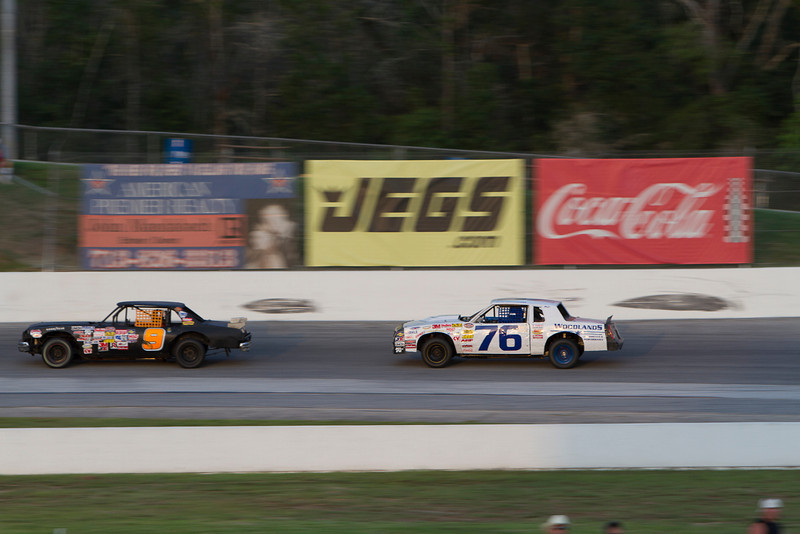 Houston Motorsports Park<br /> July 21, 2012<br /> Class: NASCAR Stock Cars<br /> Driver: Scotty Barber (9), Erik Olszewski (76)