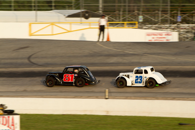 Houston Motorsports Park<br /> July 21, 2012<br /> Class: Legends<br /> Driver: Christopher Hogan (81), Baiden Heskett (27)