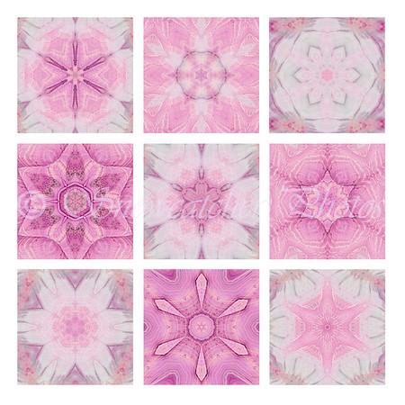 Pink Wave Snowflakes