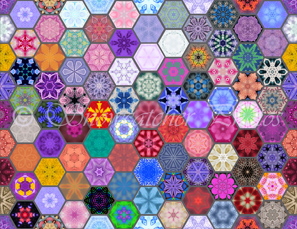 Snowcatcher Hexie Patchwork