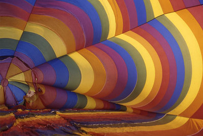 Balloon inflating, Temecula, CA, 1992