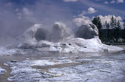 Grotto Geyser, Yellowstone NP, MT, 1971