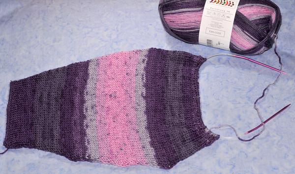 mystery sock yarn project