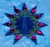 My bejeweled peacock snowflake!