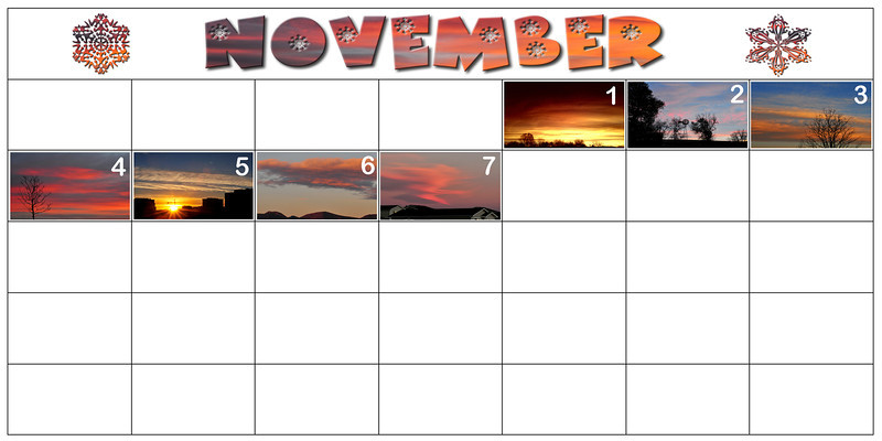 My first week of November Sunrise a Day.