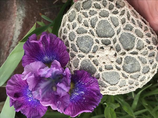 Siberian Iris and Unity Snowflake Rock
