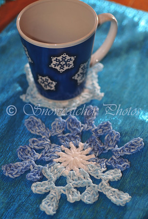 El Punto Snowflake Coaster and Afterthought Snowflake Coaster