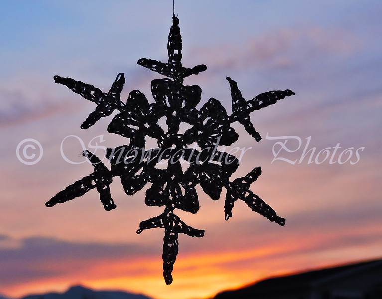 Dark Lucky Snowflake