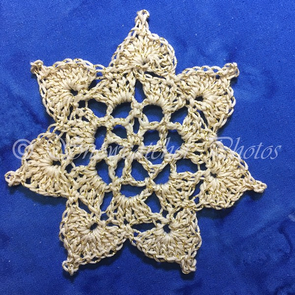 Seven-Pointed Teal Treasure Snowflake