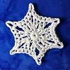Snögubbe Snowflake Head