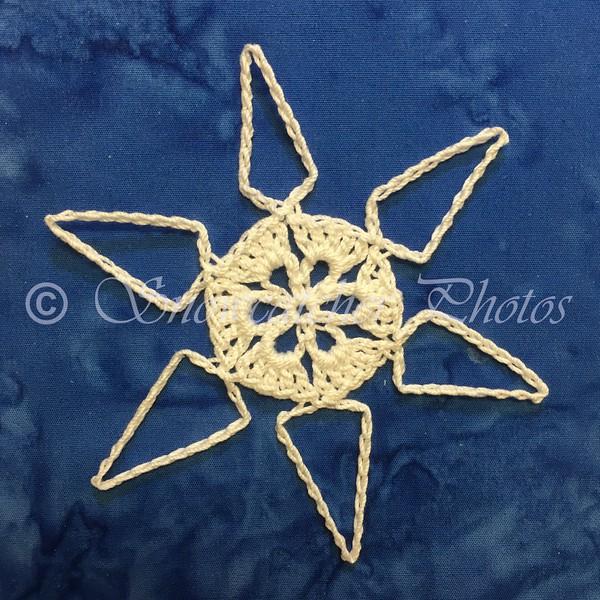 Lizard's Favorite Mini Teal Treasure Snowflake Variation