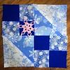 Dancing Diamond Snowflake on Buckeye Beauty Quilt Block