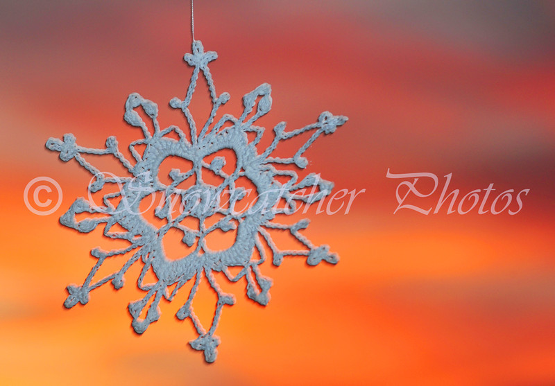 Snowflake at Sunset