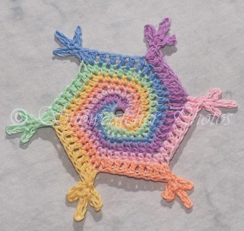 Pastel Lollipop Snowflake
