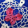 snowflaked butterfly motif