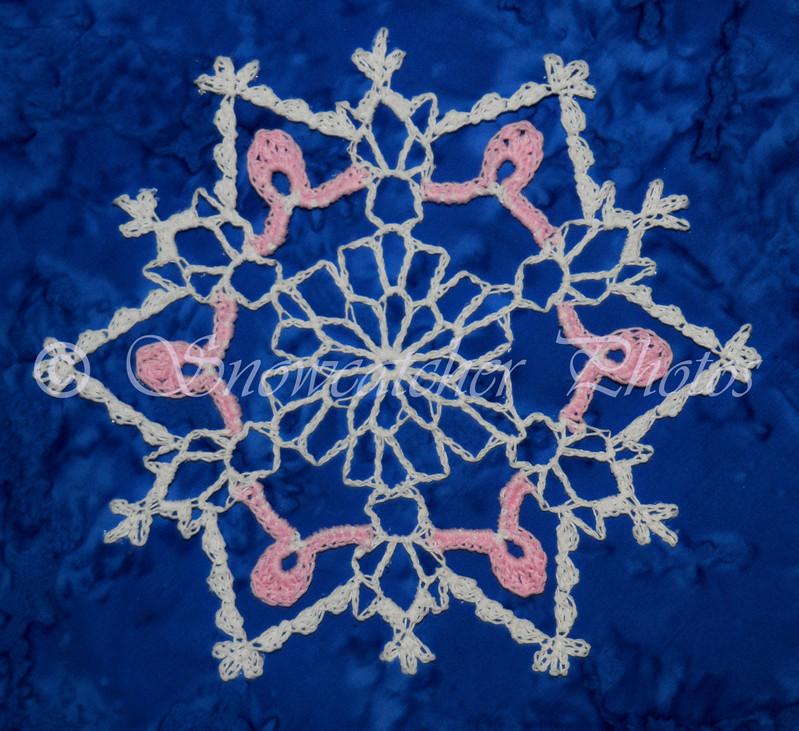 "October Snow <br> <a href=""http://www.snowcatcher.net/2009/10/snowflake-monday.html"" target=""_blank"">Pink Ribbon Snowflake</a>"