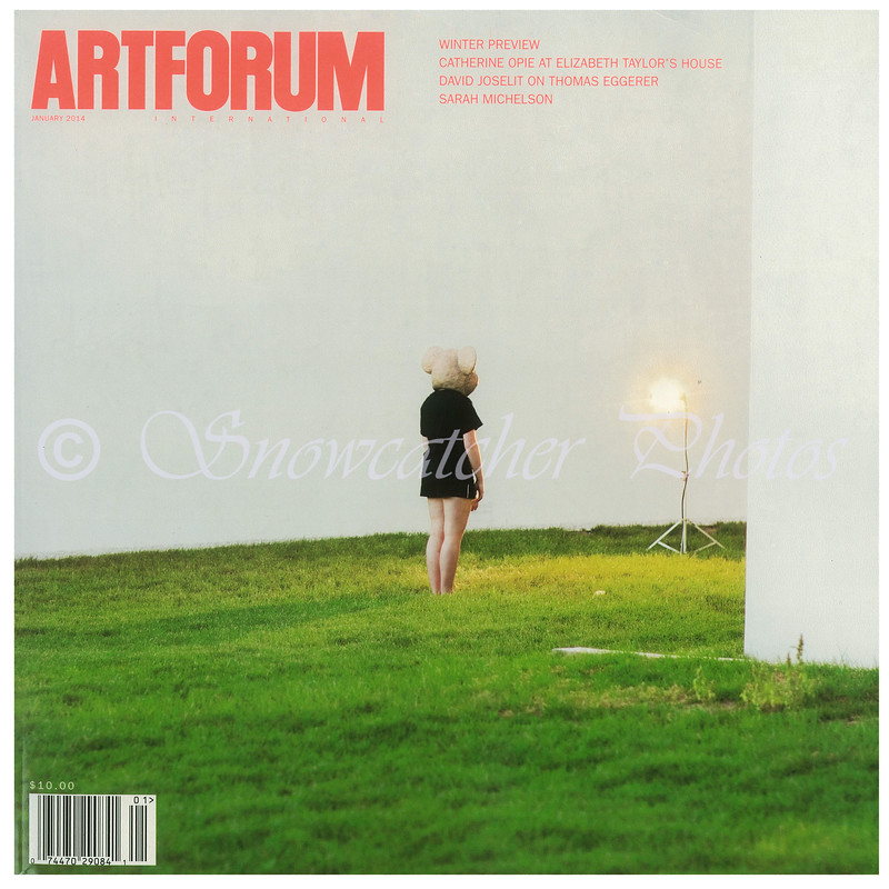 January 2014 Cover of Art Forum Magazine
