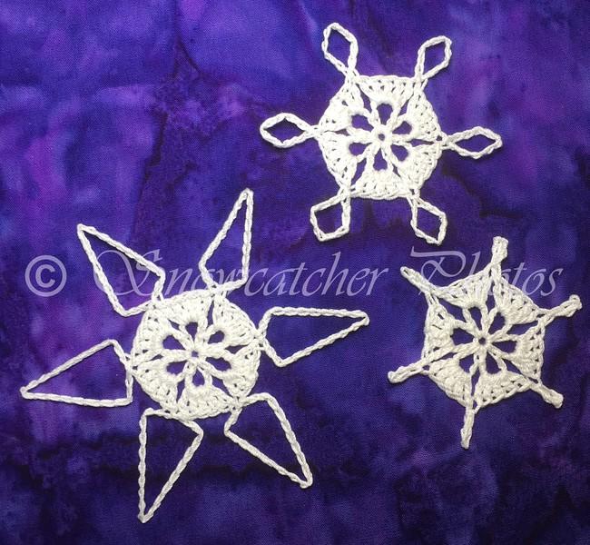 Mini Teal Treasure Snowflake Variations