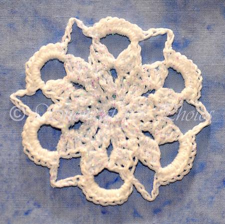 Mini Lavender Snowflake