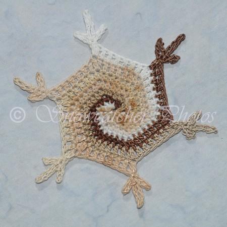 Cinnamon Swirl Lollipop Snowflake