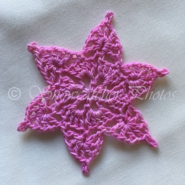 Lacy Pink Teal Treasure Snowflake