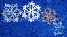 Opaline Snowflakes