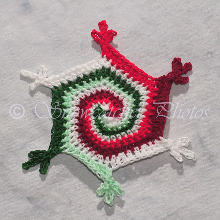 Christmas Mint Lollipop Snowflake