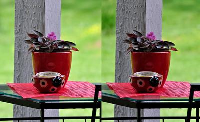 Flowerpot and Ladybug Bowl