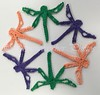 Halloween Colors Dragonfly Snowflake