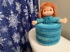 Elsa Blue Toilet Paper Cozy