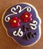 sugar skull cookie