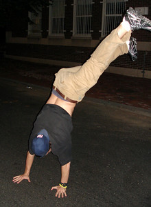 Pedro's attempt at a handstand ... May 28, 2005