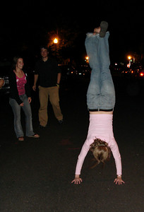 I guess that answers that question.  You only need one sandal for a handstand ... May 28, 2005