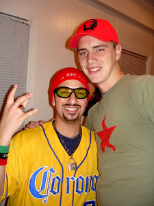 Andrew Fahmi and Rob Page celebrating Halloween - October 29, 2005