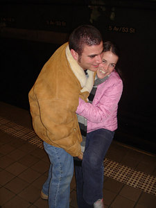 Pedro attempting to throw Christine on the tracks - New York, NY ... January 4, 2006 ... Photo by Rob Page III