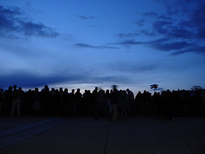Watching the sunrise before Boston College graduation - Chestnut Hill, MA ... May 22, 2006 ... Photo by Rob Page III