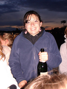 Beth enjoying the sunrise of graduation day at Boston College - Chestnut Hill, MA ... May 22, 2006 ... Photo by Rob Page III