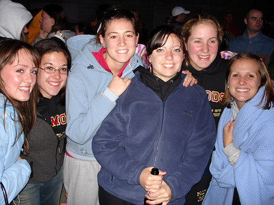 Katie, Meg, Jen, Beth, Heather, and Caroline enjoying the sunrise on graduation day at Boston College - Chestnut Hill, MA ... May 22, 2006 ... Photo by Rob Page III