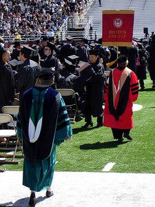 Graduation in Alumni Stadium - Chestnut Hill, MA ... May 22, 2006 ... Photo by Robert Page III