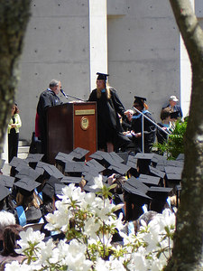 Heather walking across the stage for her diploma - Chestnut Hill, MA ... May 22, 2006 ... Photo by Robert Page III