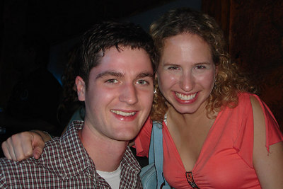 Jeremy and Sarah enjoying the DC Kickball party - Washington, DC ... October 14, 2006