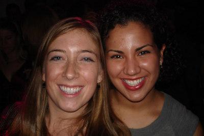 Leslie and Andrea enjoying the party - Washington, DC ... October 14, 2006