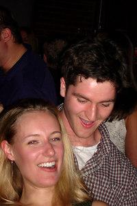 Tina and Jeremy dancing at the DC Kickball party - Washington, DC ... October 14, 2006