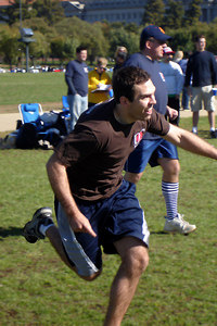 Luke, 'running' to first base for Itchy Crotch Initiative - Washington, DC ... October 14, 2006 ... Photo by Rob Page III