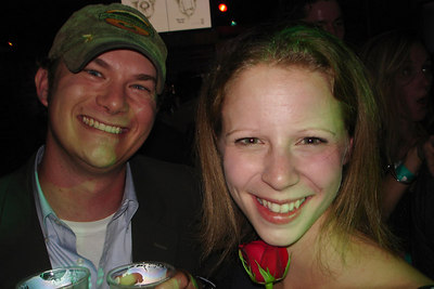 Emily and her friend from high school, Jay, hanging out at the RnR Bar and Lounge - Washington, DC ... October 14, 2006