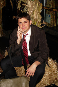 Logan, enjoying his seat in the hay as a business man - Washington, DC ... November 3, 2006 ... Photo by Rob Page III