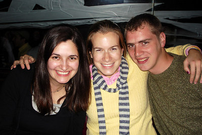 Becky, Jillian, and Rob down in the Tombs - Washington, DC ... November 3, 2006 ... Photo by Elliot MacDougal-Weymouth