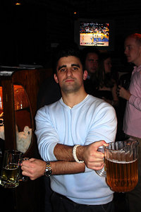 Tom Cerabino enjoying the tombs - Washington, DC ... November 3, 2006 ... Photo by Rob Page III
