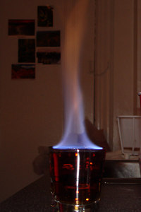 One of the flaming shots - Washington, DC ... November 4, 2006 ... Photo by Rob Page III